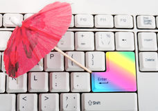 Rainbow key Stock Images