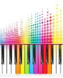 Rainbow keys of piano Royalty Free Stock Photography