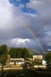 Rainbow in Kham Royalty Free Stock Image