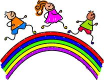 Rainbow kids Royalty Free Stock Image