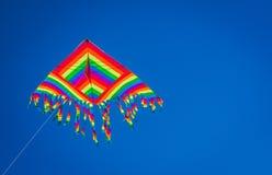 Rainbow kite in the sky Royalty Free Stock Photo