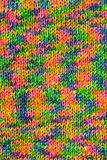 Rainbow knitted texture Stock Image