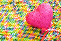 Rainbow knitted texture Royalty Free Stock Images