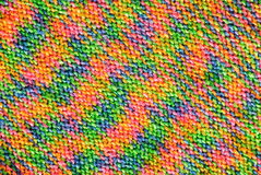 Rainbow knitted texture Royalty Free Stock Photo