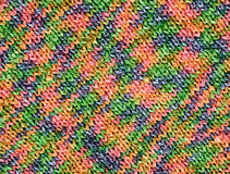 Rainbow knitted texture Royalty Free Stock Image