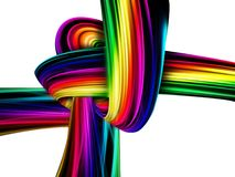 Rainbow knot Stock Photos