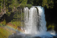 Rainbow at Koosah Falls on the McKenzie River, Oregon Stock Photos