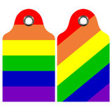 Rainbow Labels Set Stock Images