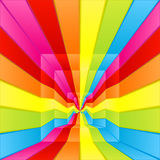 Rainbow labyrinth way. Vector illustration of a rainbow colored labyrinth way flowing endlessly to the center Stock Photography