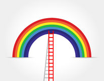 Rainbow ladder illustration design graphic Royalty Free Stock Photo