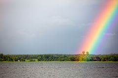 Rainbow on the lake Stock Photos