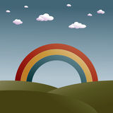 Rainbow landscape Stock Photography