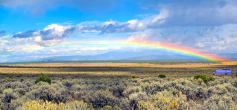 Rainbow landscape Stock Photo