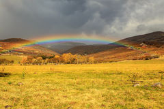 Rainbow landscape in Heber Valley. Stock Images