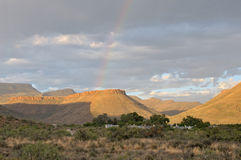 Rainbow landscape in the Karoo National Park Stock Images