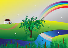 Rainbow. Royalty Free Stock Photo