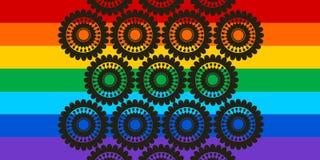 Rainbow Landscape Vector Vector Illustration