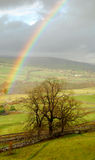 Rainbow landscape in Yorkshire Dales. Beautiful landscape in Yorkshire Dales National Park, Great Britain Stock Image