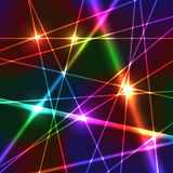 Rainbow Laser Background Stock Image