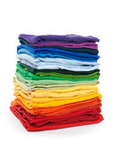 Rainbow laundry stock photo