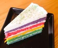 Rainbow layer cake Royalty Free Stock Image