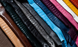 Rainbow of leather Stock Photography