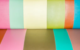 Rainbow leather texture Stock Photography