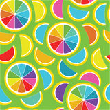 Rainbow lemon seamless background Stock Photography