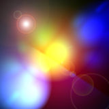 Rainbow lens flare Stock Image