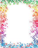 The Rainbow Letter. Rainbow Frame and room for the text for the letter or invitation Royalty Free Stock Photography