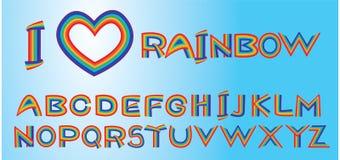 Rainbow letters Stock Photo