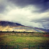 Rainbow. The rainbow in Lhasa of Tibet royalty free stock images