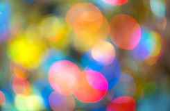 Rainbow light bokeh. Royalty Free Stock Photo