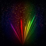 Rainbow light rays background, abstract colorful burst. Rainbow light rays background, vector abstract colorful burst Stock Image