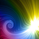Rainbow light spiral. Abstract white light and spiral rainbow colorful Royalty Free Stock Images