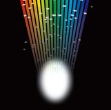 Rainbow light spotlight Royalty Free Stock Images