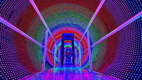 Rainbow light tunnel stock footage