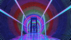 Rainbow light tunnel stock video footage