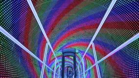 Rainbow light tunnel stock video footage