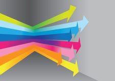 Rainbow lights arrows Stock Photo