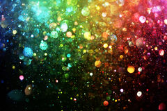 Rainbow of lights Stock Image