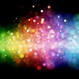 Rainbow of lights Stock Images