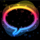Rainbow Lights Speech Bubble Royalty Free Stock Image