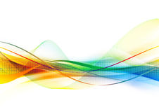 Rainbow line. Abstract background with rainbow wave Royalty Free Stock Image