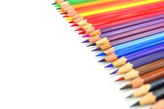 Rainbow line of color paintings for painting Stock Photo