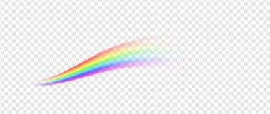 Rainbow line illustration Stock Photography