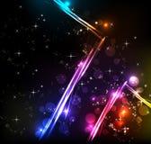 Rainbow Lines Background Stock Photo