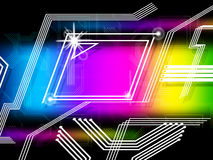 Rainbow Lines Background Means Info Highway And Internet Stock Image