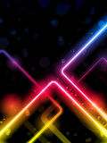 Rainbow  Lines Background Neon Laser Stock Photography