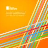 Rainbow lines over orange background. Stock Photography